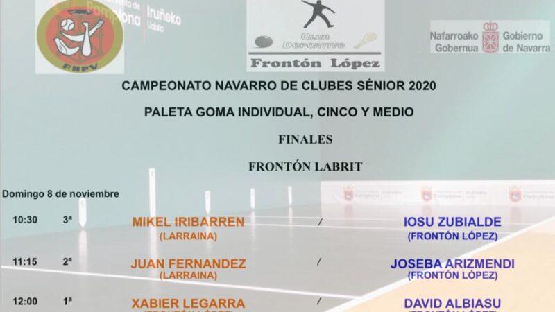 La paleta goma viaja al Labrit para celebrar las finales del Campeonato Navarro de Clubes Individual dentro del Cinco y Medio